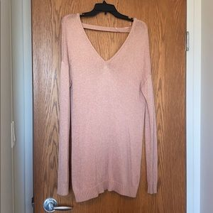 Dynamite vee neck tunic sweater